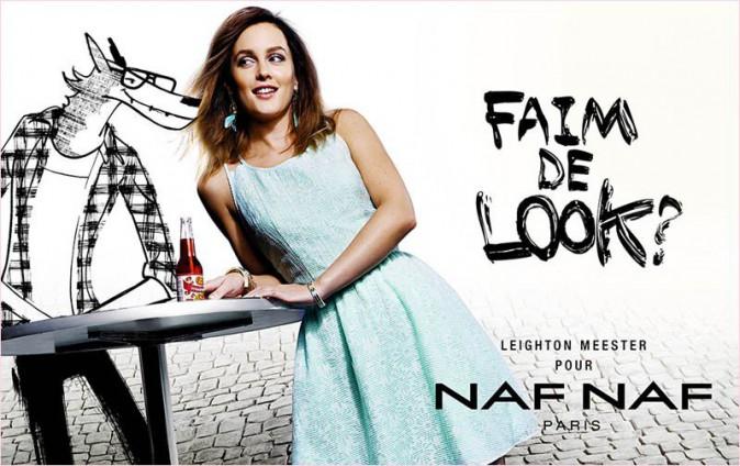 Leighton flirt avec le loup pour Naf Naf!