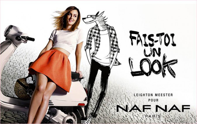 Leighton Meester crie au loup pour Naf Naf !