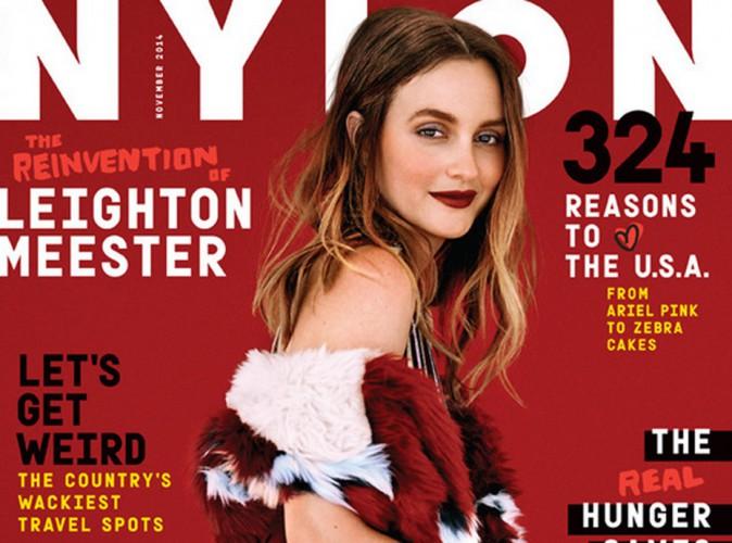 Mode : Leighton Meester : sublime et sexy en couverture de Nylon !