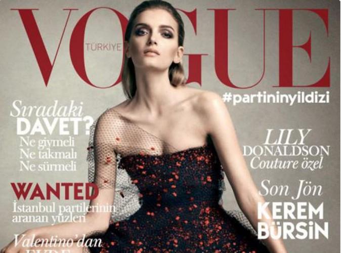 Mode : Lily Donaldson : elle se la joue princesse pour la couverture de Vogue Turquie !