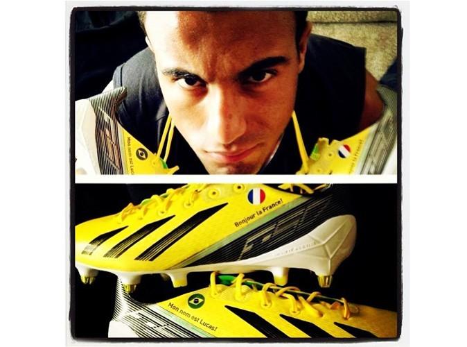 Mode : Lucas Moura : la nouvelle star du PSG est bien chaussé !