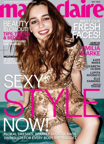 Mode : Lupita Nyong'o et Emilia Clarke : deux actrices de charme en couverture du Marie Claire !