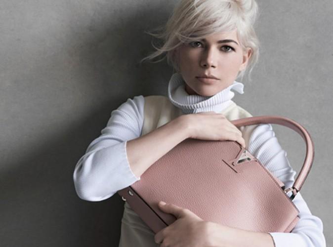 Michelle Williams : beauté glamour et rétro pour la nouvelle campagne Louis Vuitton !