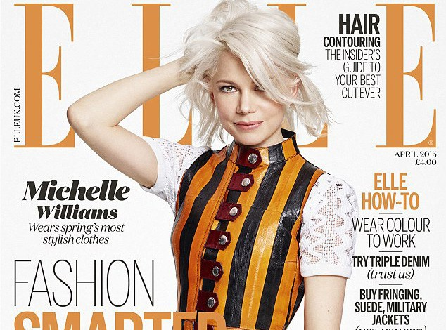 Mode : Michelle Williams : Maman et bombe à la fois, la blondinette fait la couverture de Elle UK !