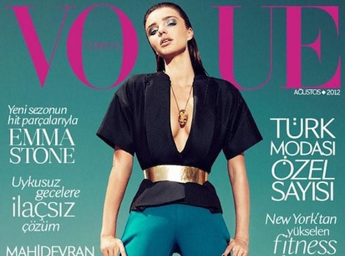 Mode : Miranda Kerr dans la peau d'un bad boy pour le Vogue turc !