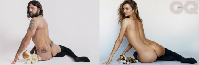 Mode : Miranda Kerr : quand un mannequin barbu et tatoué l'imite, ça donne ça !