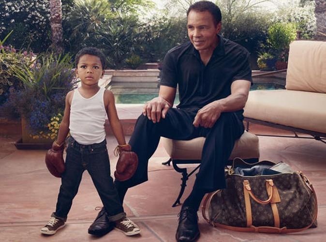 Mode : Mohamed Ali et son petit-fils prennent la pose pour Louis Vuitton !