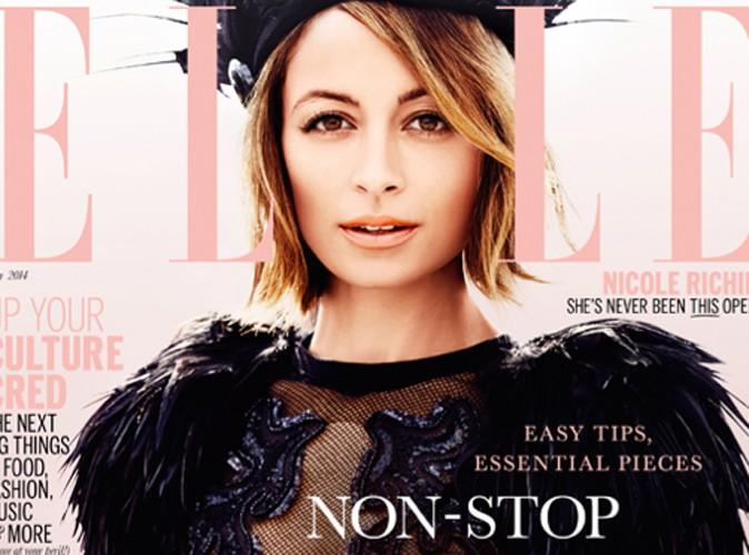 Mode : Nicole Richie : dentelle, résille et plumes pour la Une de ELLE Australia !