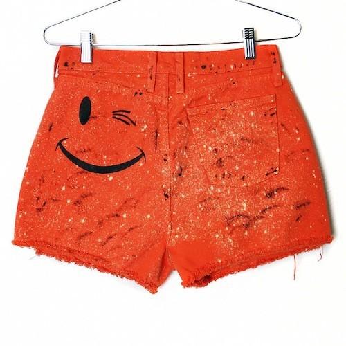 Short en jean Happy, Burgers And Friends sur etsy.com 17€