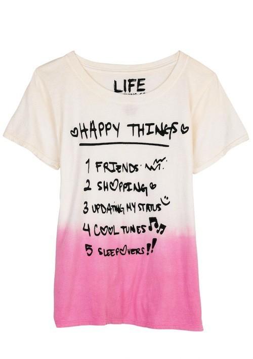 """Top """"Happy Things"""", delias.com 28 €"""