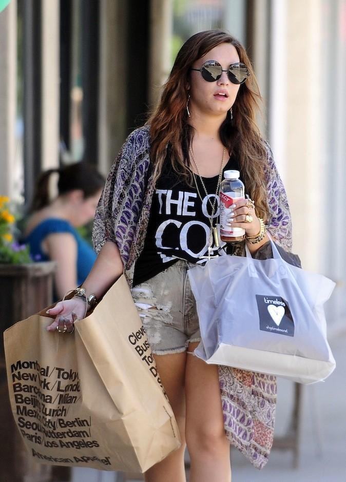 Demi Lovato fait du shopping !