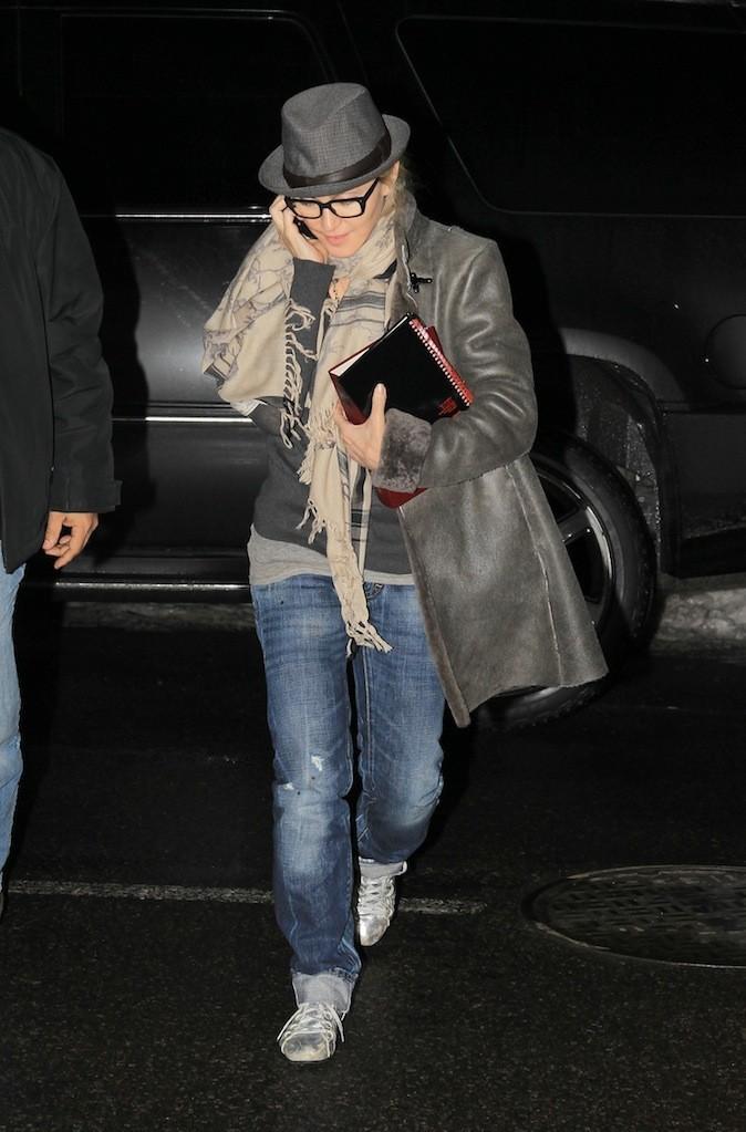 Madonna, jamais sans ses lunettes rétro !