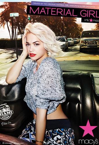 "Rita Ora pour ""Material Girl Hits Miami"" !"