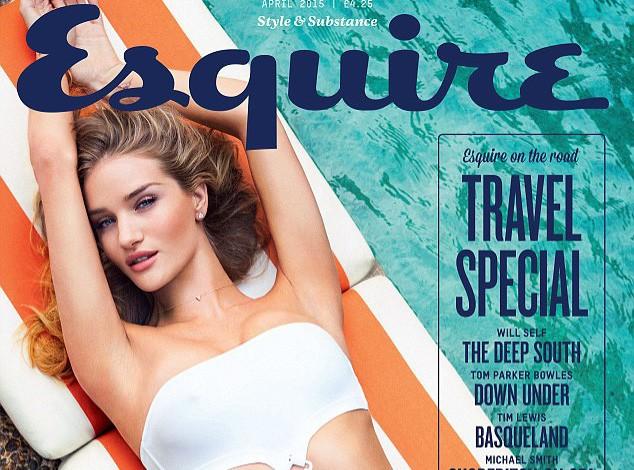 Mode : Rosie Huntington-Whiteley : trikini hot et pose lascive... Elle fait monter la température en une d'Esquire !