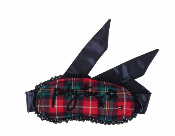 Masque pour dormir, ruban satin et coton, Tommy Hilfiger, 24,90 €