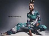 """Mode : une mannequin blanche peinte en noir pour représenter """"l'African Queen"""" !"""