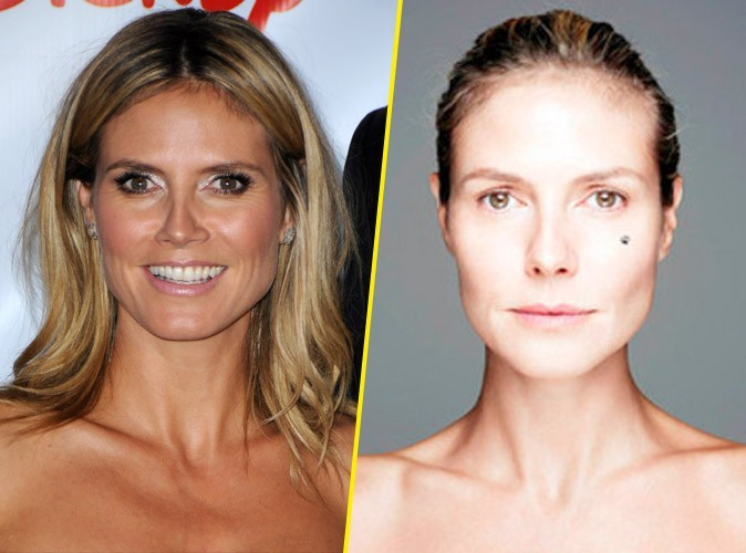 Photo : Heidi Klum sans maquillage pour le BearFaced Day !