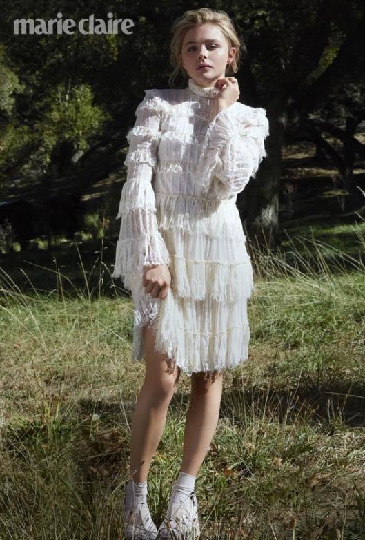 Chloë Moretz est éclatante pour le magazine Marie Claire !