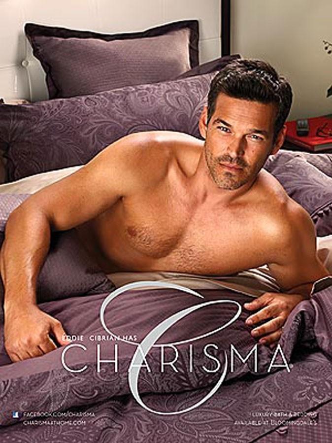 Eddie Cibrian pour le linge de maison Charisma !