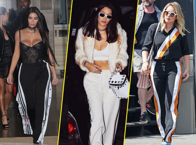 Kim Kardashian, Bella Hadid, Hilary Duff... Les stars craquent toutes pour le pantalon à bandes !