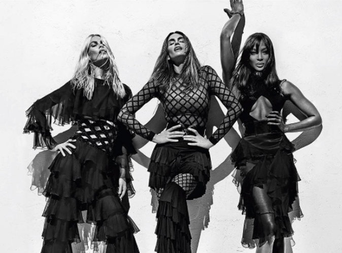 Photos : Naomi Campbell, Claudia Schiffer, Cindy Crawford : Balmain s'offrent les bombes des années 90 !