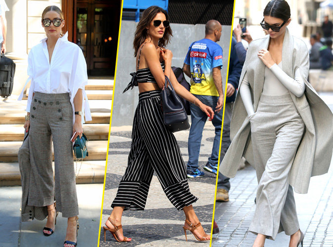 Photos : Olivia Palermo, Alessandra Ambrosio,Kendall Jenner : toutes accro à la jupe culotte !