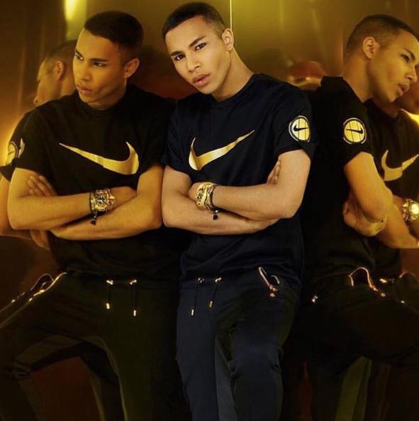 Photos : Olivier Rousteing (Balmain) collabore avec Nike !