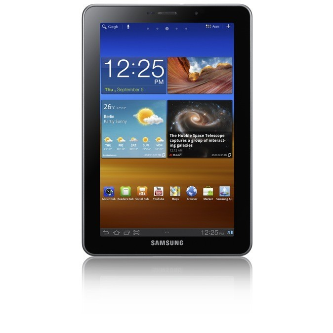 Tablette tactile Galaxy Tab 7.7, Samsung. 432 €.