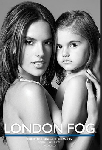 Alessandra Ambrosio et Anja pour London Fog