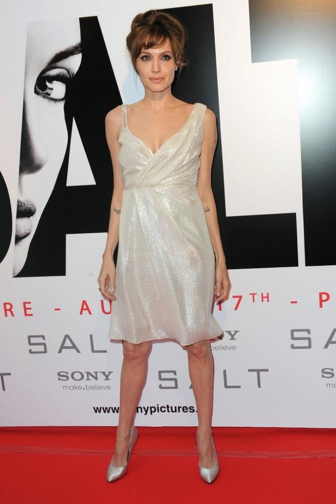 Angelina Jolie à la première de Salt au Grand Rex !
