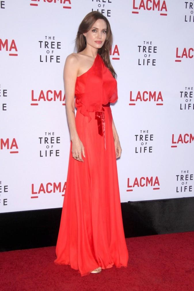 Angelina Jolie présente le film The tree of life à Los Angeles !
