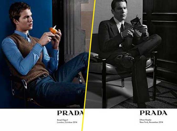 Mode : Photos : Ansel Elgort et Ethan Hawke : la classe américaine pour Prada !