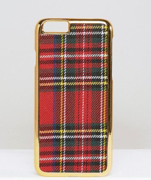 WAH LONDON x ASOS - Coque pour iPhone 6 à motif écossais - 13,49€