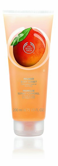 Lait fraîcheur Body Sorbet corporel mangue, The Body Shop 12 €