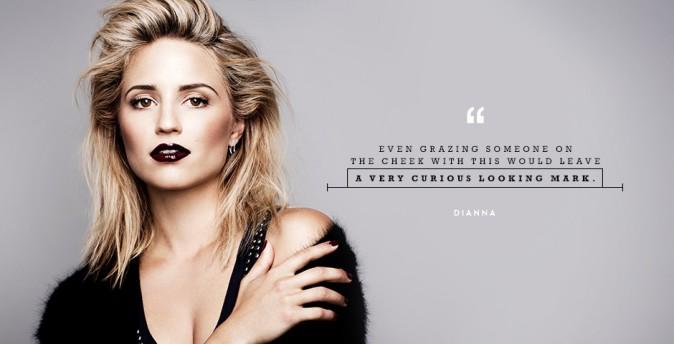 Dianna Agron : beauté sombre et esthétisme grunge pour un shooting photo !