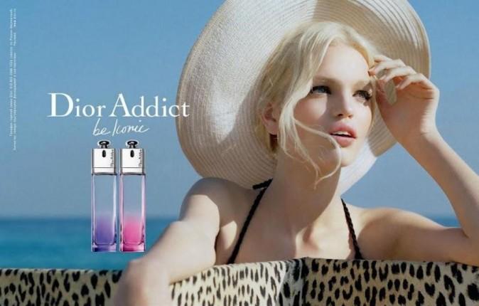 Daphné Groeneveld lors de la campagne pour le Dior Addict Parfum en 2012