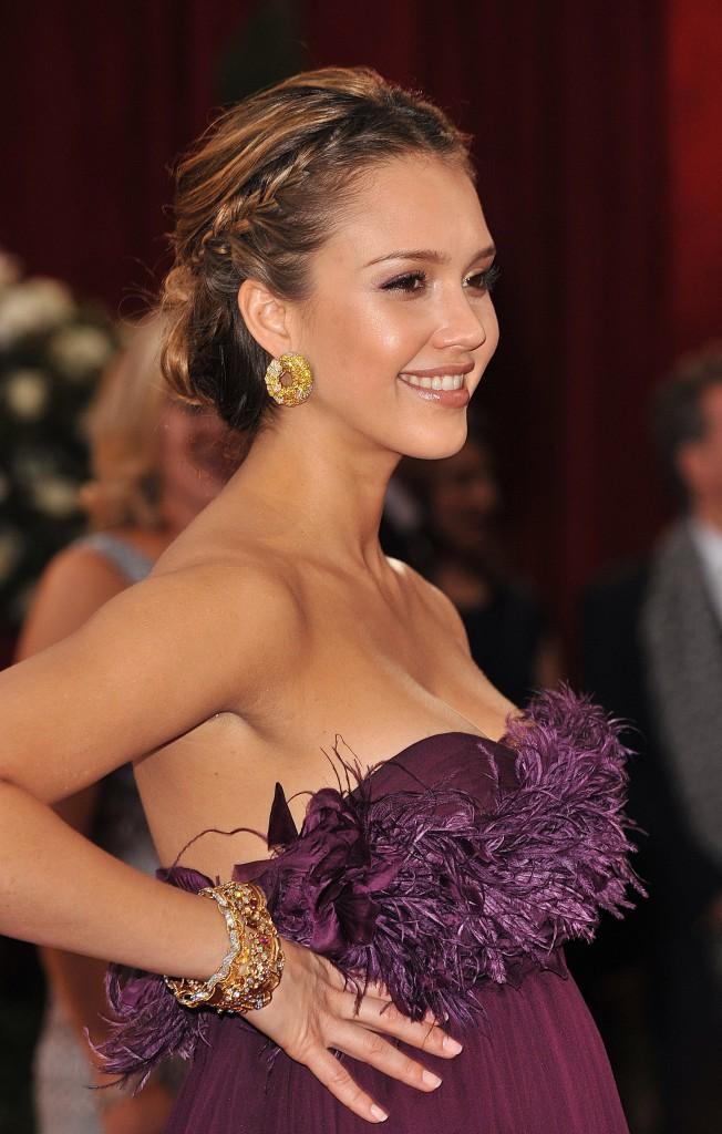 Jessica Alba à la 80ème Cérémonie des Oscars en 2008