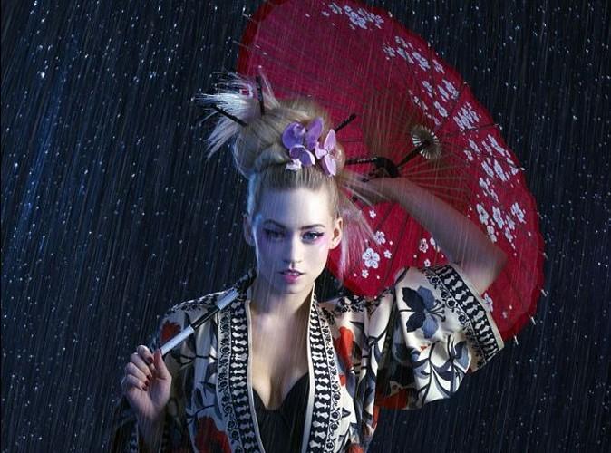 Kimberly Wyatt une jolie geisha pour la marque japonaise Yu-Be