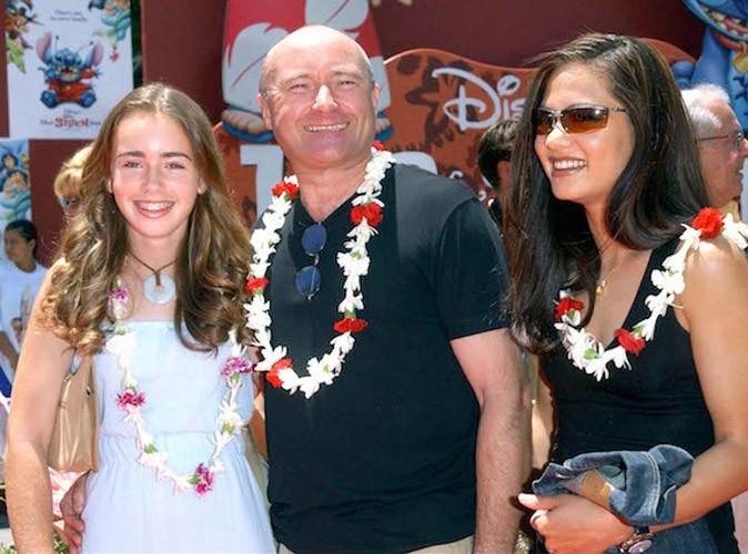 Lily Collins maquillée à 13 ans et son père Phil Collins