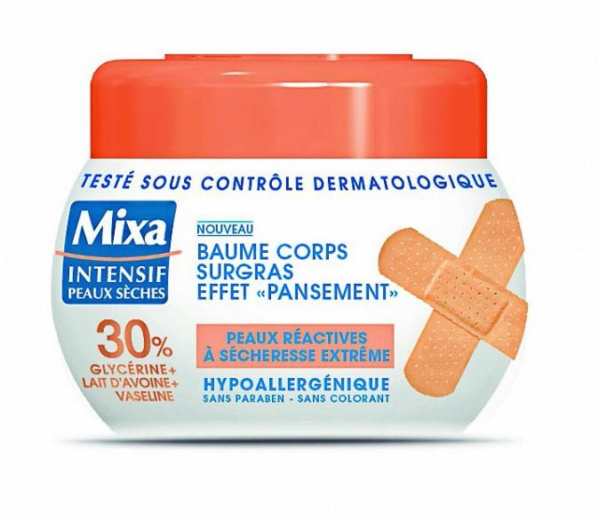 5. Je soigne ma peau de croco : Baume corps surgras effet pansement, Mixa, 6,30 €