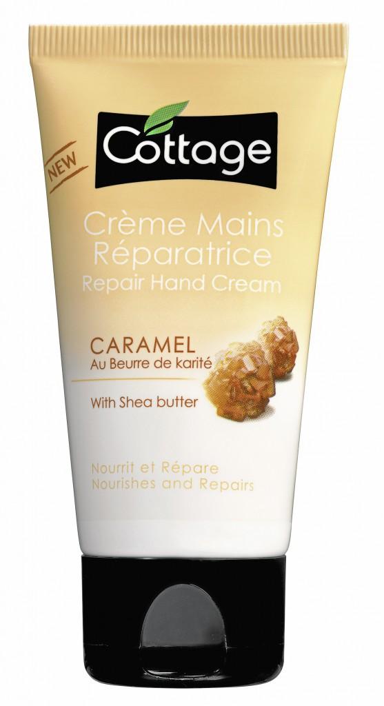 9. Je me prends en main : Crème mains réparatrice, Caramel, Cottage 3€