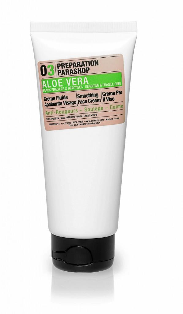 Crème fluide apaisante visage à l'aloe vera, Préparation Parashop 29,80€