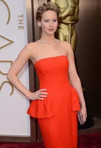 Jennifer Lawrence et sa coupe courte