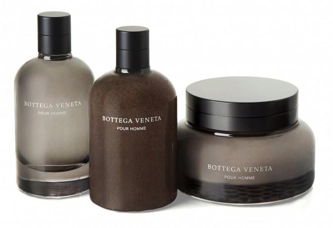 Gommage exfoliant, Lotion après-rasage et crème à raser, Bottega Veneta 45€, 57€ et 60€
