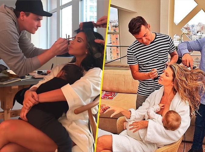 Beauté : Photos : Kim Kardashian : en coulisses, elle se prend pour Gisele Bündchen !