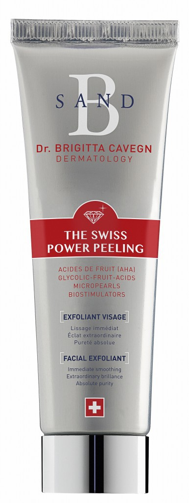 Exfoliant visage, The Swiss Power Peeling, B Sand. 39,90 € (en exclusivité chez Parashop).