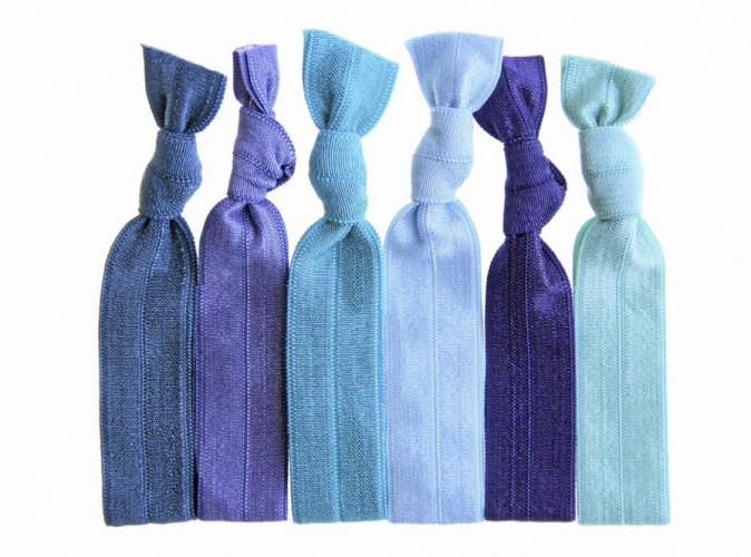 Colorés Twistbands bleus, disponibles sur birchbox.fr 6€ les 3
