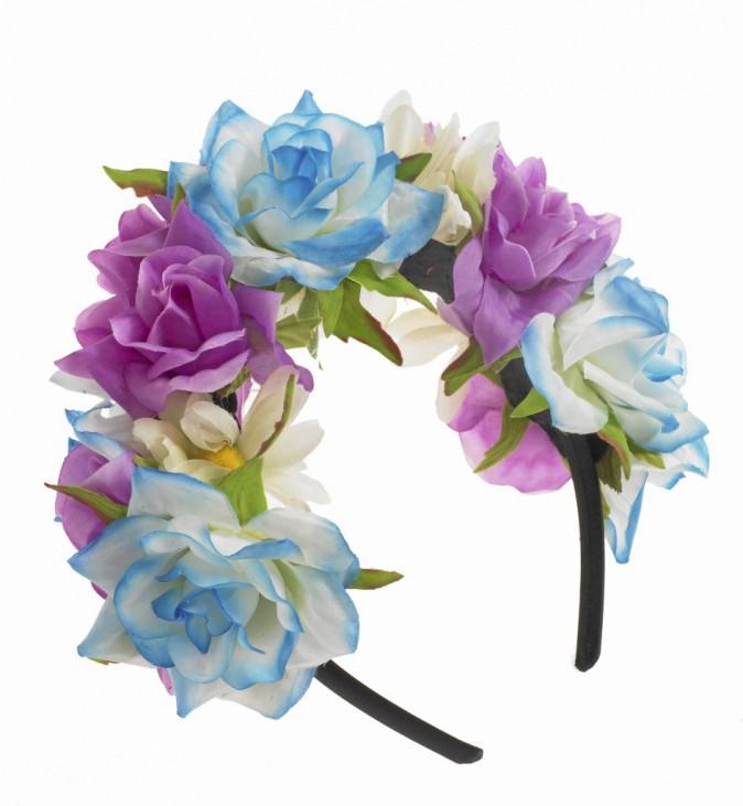 Serre-tête bleu et violet, Claire's 14,99€