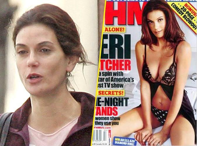 Teri Hatcher en 2005 : retouchée (à droite) ou naturelle (à gauche)