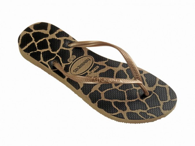 Havaianas Slim Animals, rose gold 28 €